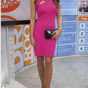 Diane Von Furstenberg, pink,  dress with cut out